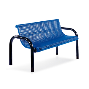F1028  Ultra Collection 4' Expanded Steel Contour Bench (Inground Mounted)
