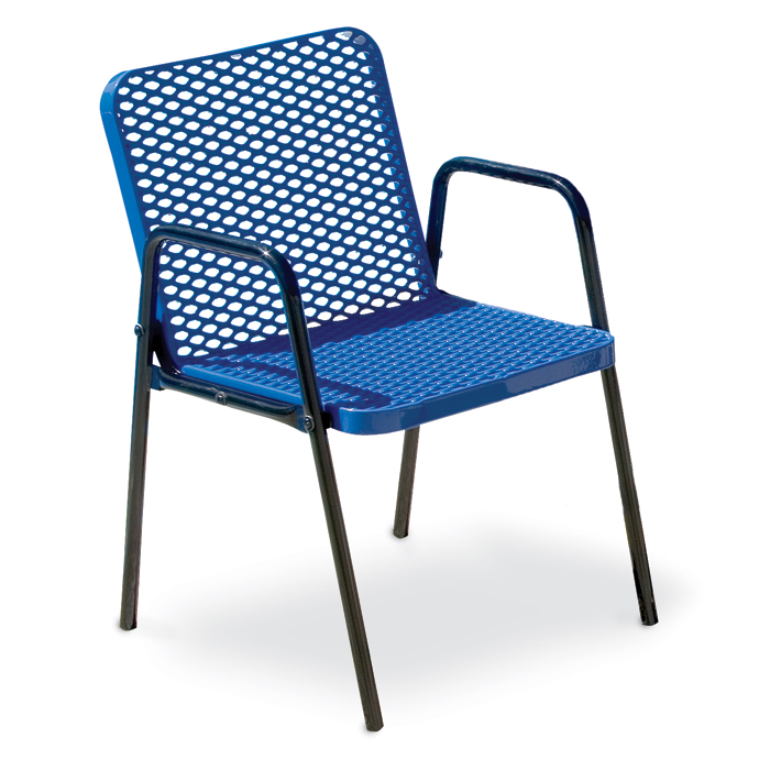 F1145 Veranda Expanded Steel Patio Chair