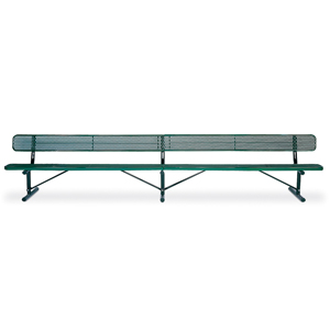 F1170 Victory 15' Expanded Steel Bench with Back (Portable/Surface Mounted)