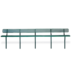F1359 Victory 20' Expanded Steel Bench with Back (InGround Mounted)