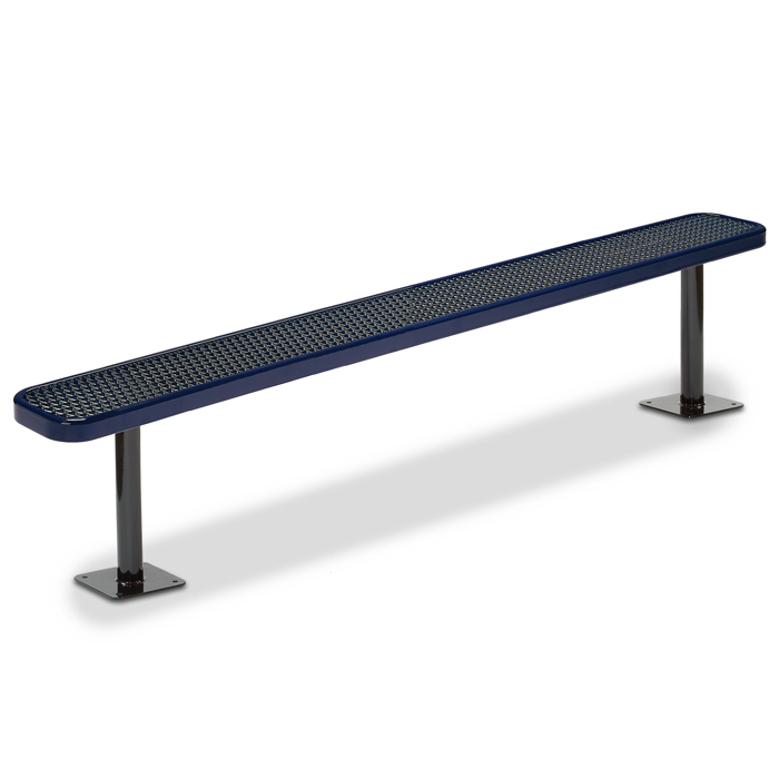 F3025 Victory 8' Expanded Steel Flat Bench (Surface Mounted)