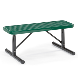 Victory 4 39 Expanded Steel Deep Seat Flat Bench Portable Indoff Commercial Site Furnishings