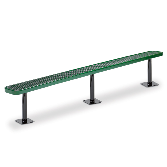 F3130 Victory 10' Expanded Steel Flat Bench (Surface Mounted)
