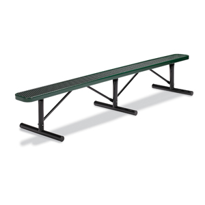 F3131 Victory 10' Expanded Steel Flat Bench (Portable/Surface Mounted)