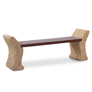 EGXBEN4  Structure Collection 4' Egyptian Expanded Steel Bench