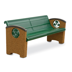 KTSSCBEN6  Balance Collection 6' Contour Bench with Slotted Steel Seat & Cast Inserts