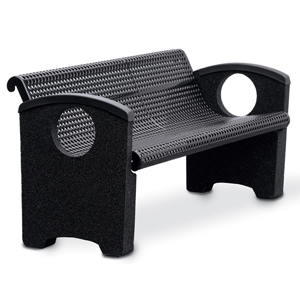 OTSPCBEN4  Balance Collection 4' Contour Bench with Perforated Steel Seat & Ends without Cast Inserts