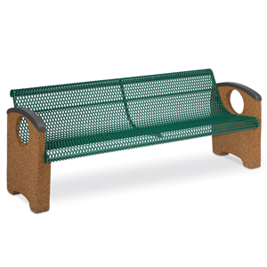 OTSXCBEN6  Balance Collection 6' Contour Bench with Expanded Steel Seat & Ends without Cast Inserts