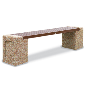 PCSXBEN6  Structure Collection 6' Flat Bench with Stone Ends
