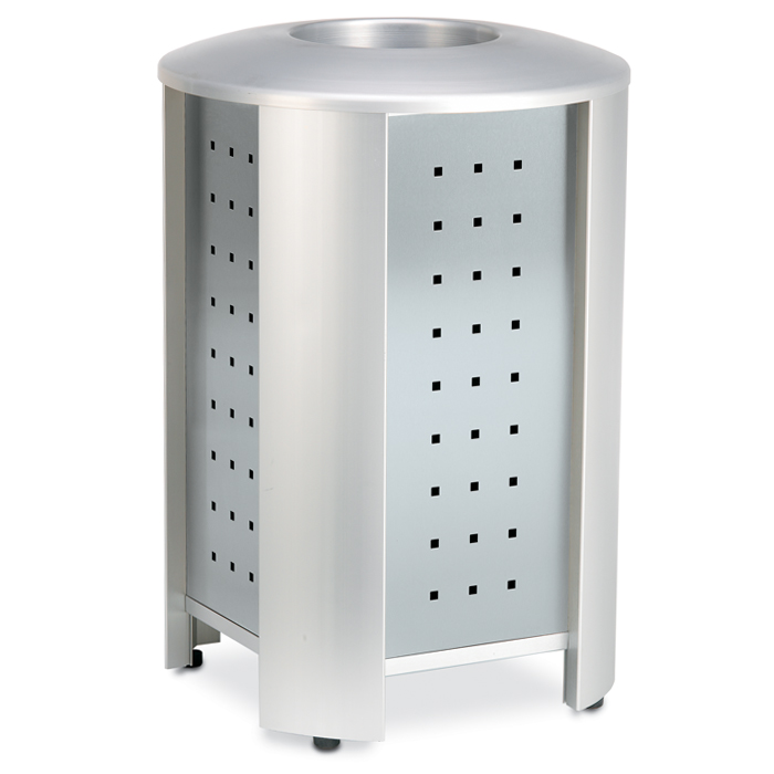RT3001  Signature 40 Gallon Trash Receptacle with Stainless Steel Panels