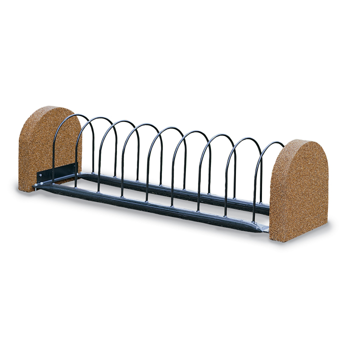 TSBR8P  Balance Collection Bike Rack with Solid Ends