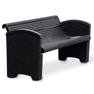 TSPCBEN4  Balance Collection 4' Contour Bench with Perforated Steel Seat & Solid Ends