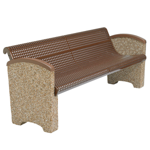 TSPCBEN6  Balance Collection 6' Contour Bench with Expanded Steel Seat & Solid Ends