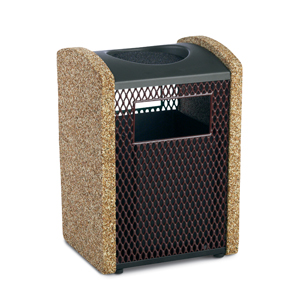 TSXA  Balance Collection 16 Gallon Ash/Trash Receptacle with Expanded Steel Sides & Sand Urn Top