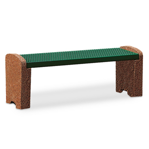 TSXBEN4  Balance Collection 4' Flat Bench with Expanded Steel Seat & Solid Ends