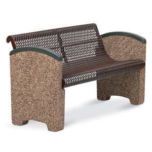 TSXCBEN4  Balance Collection 4' Contour Bench with Expanded Steel Seat & Solid Ends