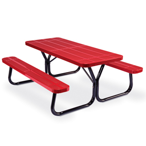 D6000  Rally 6' Perforated Steel Picnic Table (Portable