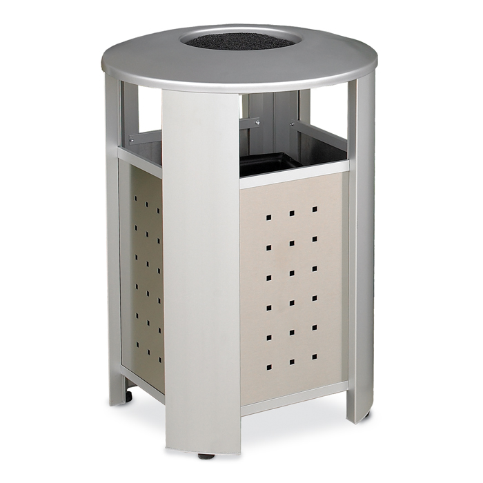 RT2001A  Signature Collection 20 Gallon Trash Receptacle with Stainless Steel Sides & Ash Dome Top