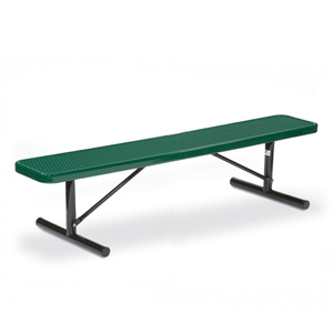 F3020 Victory 6' Expanded Steel Flat Bench (Portable/Surface Mounted)