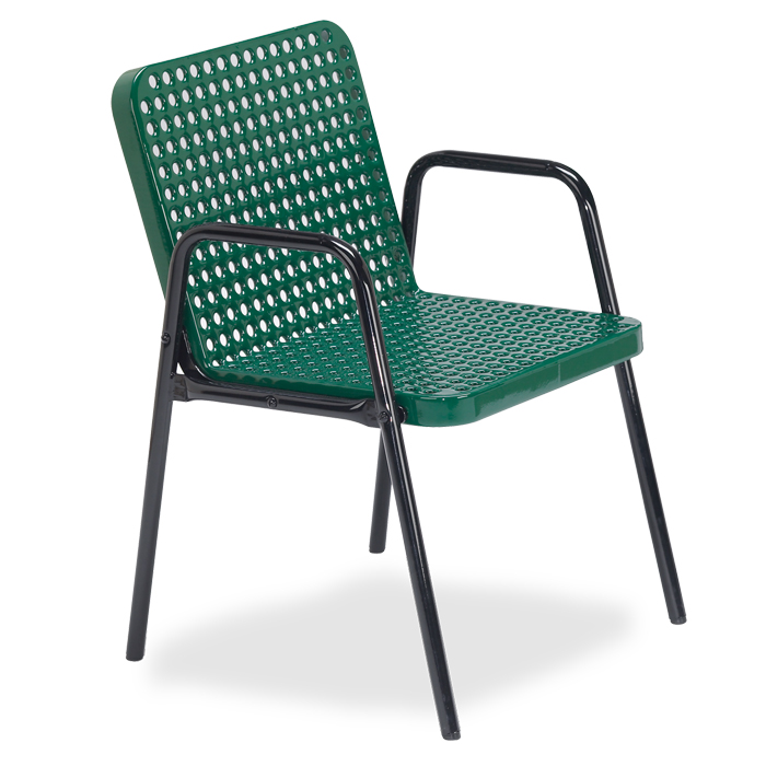 D1145 Veranda Perforated Steel Patio Chair