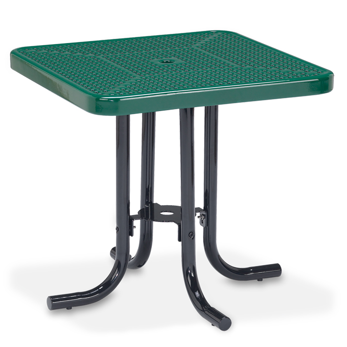 Veranda Collection Square Perforated Steel Patio Table