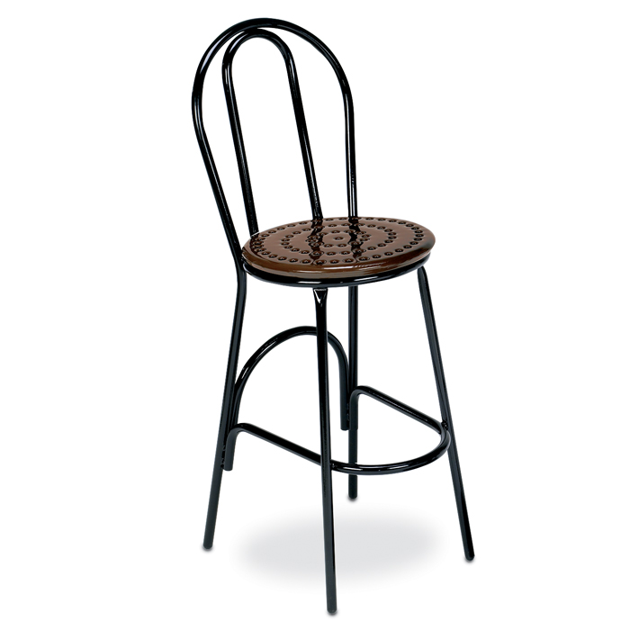 D1158 Veranda Perforated Steel Bar Height Stool