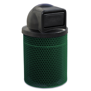 F1021D  Ultra Collection 32 Gallon Expanded Steel Trash Receptacle with Dome Top
