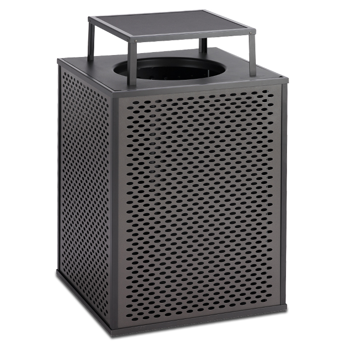 E48TPBT  Element Collection 48 Gallon Trash Receptacle with Bonnet Top