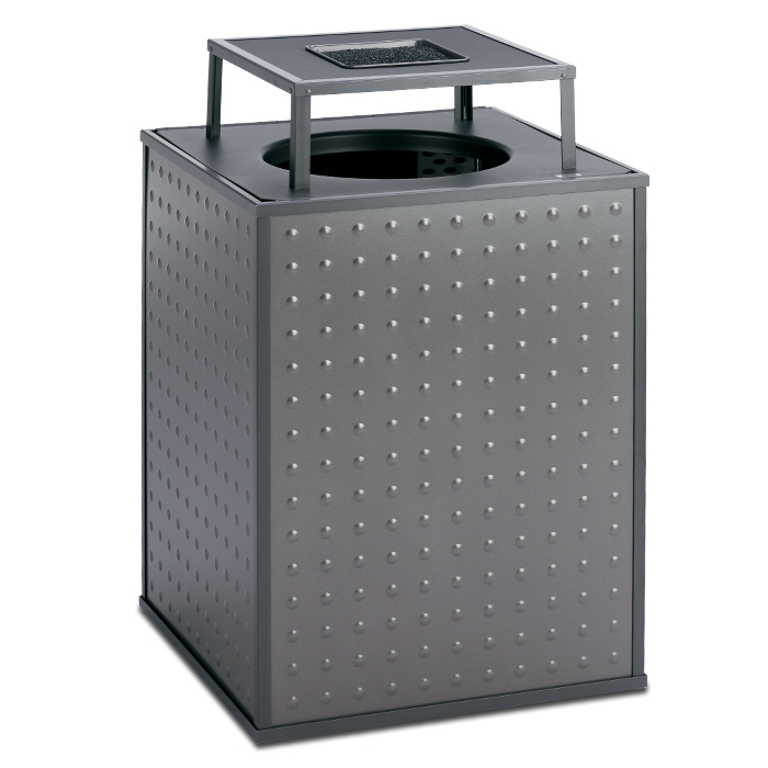 E48TPABT  Element Collection 48 Gallon Trash Receptacle with Ash Bonnet Top