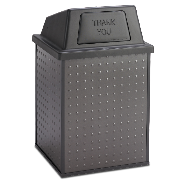 E48TPHT  Element Collection 48 Gallon Trash Receptacle with Push Door Top