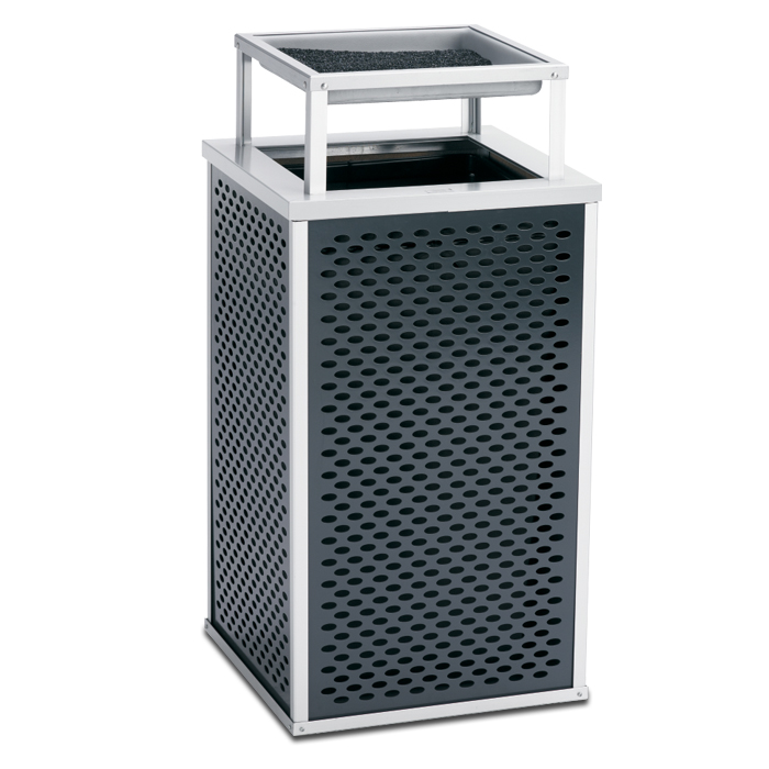 E30TPABT  Element Collection 30 Gallon Trash Receptacle with Ash Bonnet Top