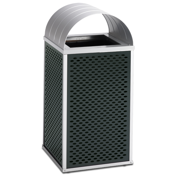 E30TPCT  Element Collection 30 Gallon Trash Receptacle with Curved Top