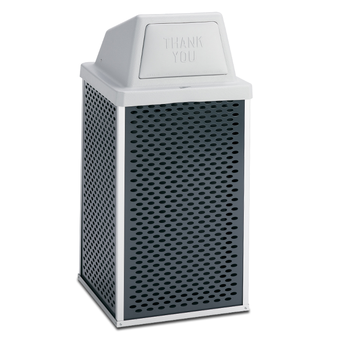 E30TPHT  Element Collection 30 Gallon Trash Receptacle with Push Door Top