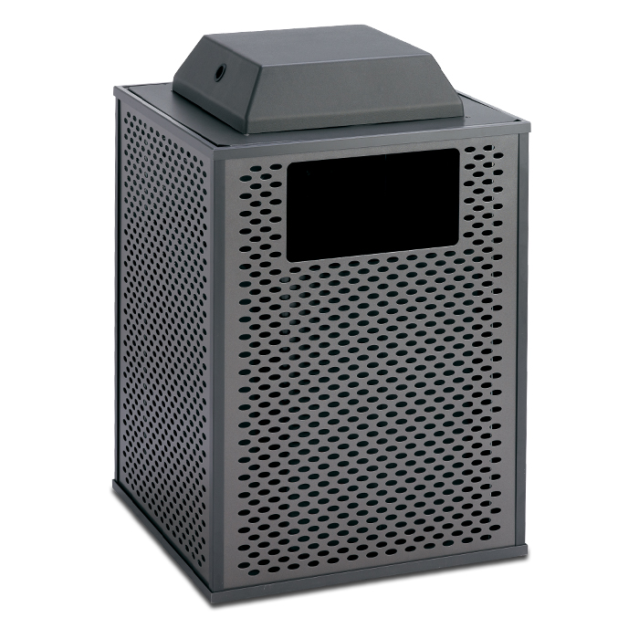 E32TPAC  Element Collection 32 Gallon Trash Receptacle with Ash Cover Top