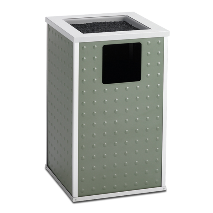 E20TPA  Element Collection 20 Gallon Trash Receptacle with Sand Urn Top