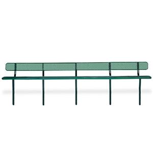 D1359 Victory 20' Perforated Steel Bench with Back (InGround Mounted)