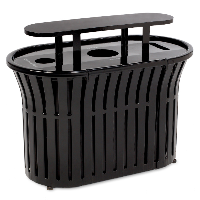 L1382BT  Rendezvous 69 Gallon Triple Recycling Receptacle