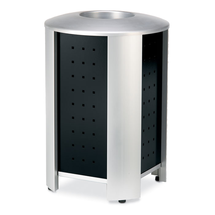 RT3000  Signature 40 Gallon Trash Receptacle with Powder Coated Panels