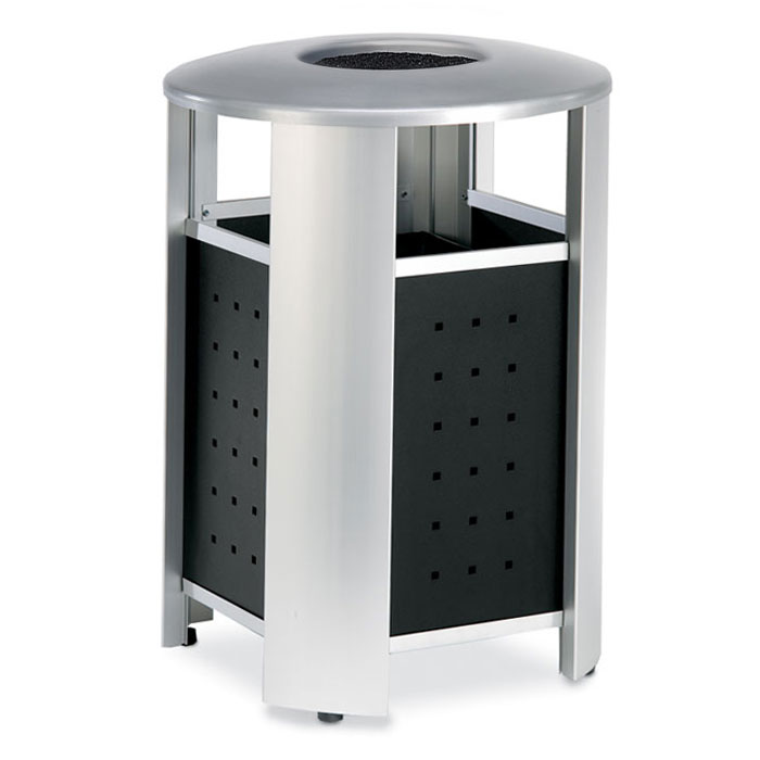 RT2000A  Signature Collection 20 Gallon Trash Receptacle with Powder Coated Sides & Ash Bonnet Top