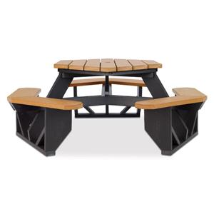 Recycled Plastic Lumber Hexagon Picnic Table Indoff Commercial - Picnic table recycled plastic lumber