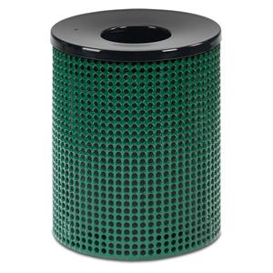 D1021M  Ultra Collection 32 Gallon Perforated Steel Trash Receptacle with Contour Top