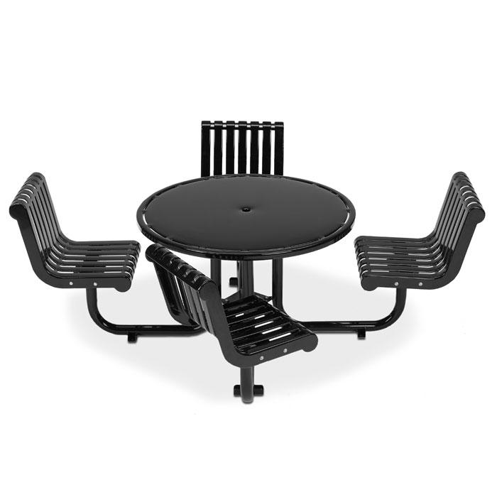 L1388S  Rendezvous Table with (4) Swivel Contour Seats