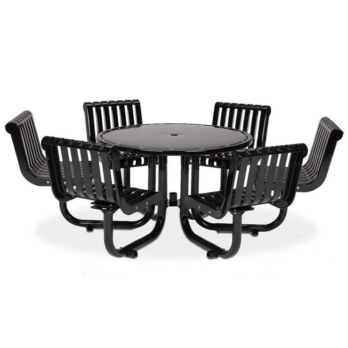 L1392S  Rendezvous Table with (6) Swivel Contour Seats