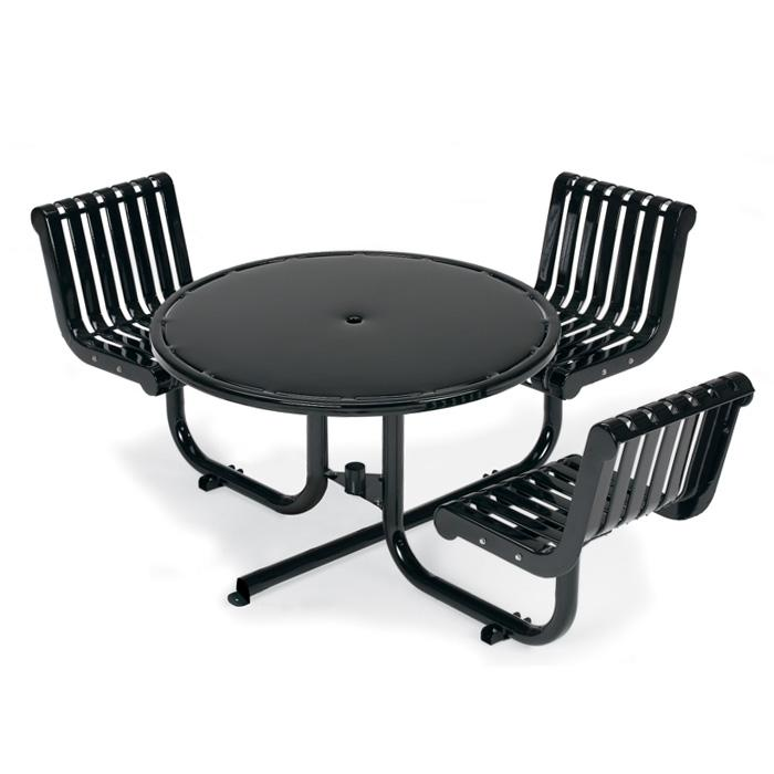 L1395S  Rendezvous ADA Compliant Table with (3) Swivel Contour Seats