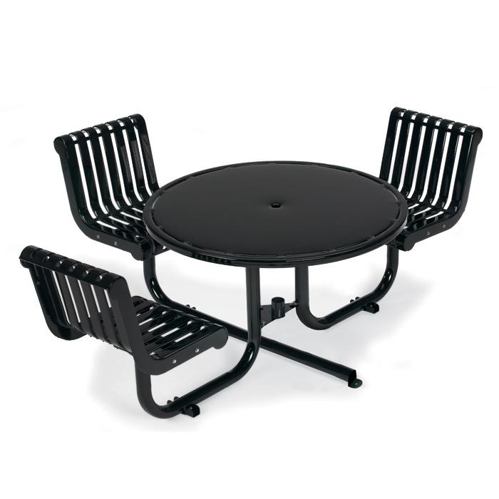 L1395  Rendezvous ADA Compliant Table with (3) Fixed Contour Seats