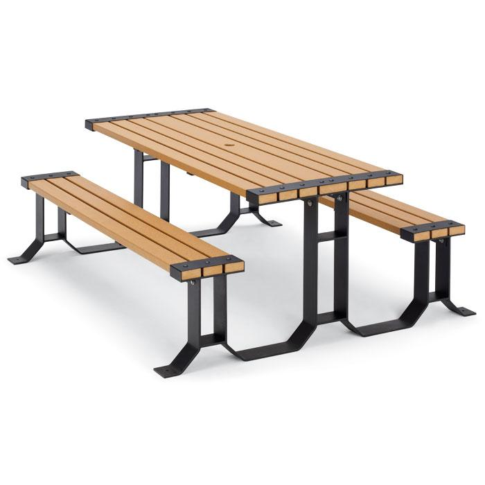 Archive Wainwright Collection Recycled Plastic Lumber Picnic Table - Picnic table recycled plastic lumber