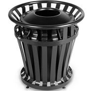 4020 WeatherGard 20 Gallon Steel Trash Receptacle