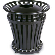 4021 WeatherGard 32 Gallon Steel Trash Receptacle