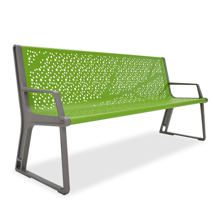 AE2680LF  Airi Collection Leaf 6' Contour Bench