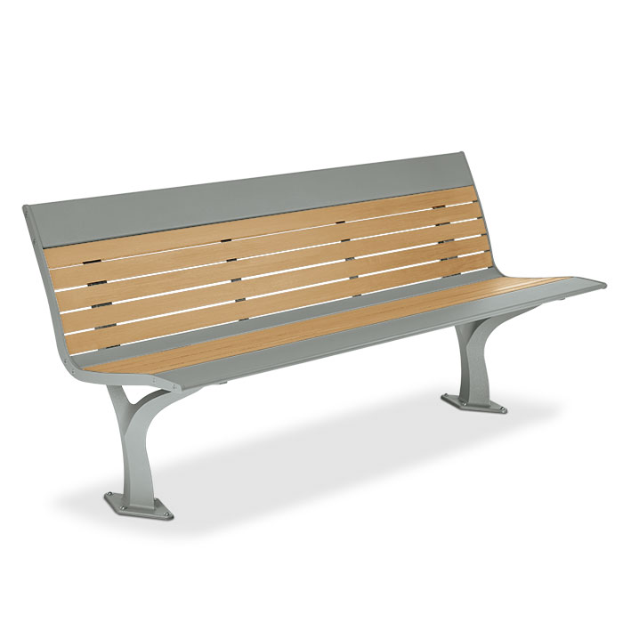 AL1980R  Allure Recycled Plastic 6' Contour Bench